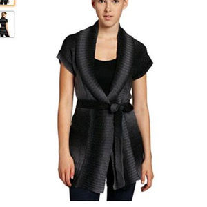 Unionbay Dip Dye Shawl Collar Sweater, Black Gray